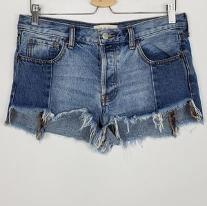 Free People Shadow Pocket Cut Off Shorts Size 27